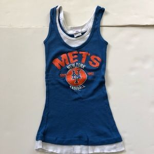 NY Mets Baseball Fitted Tank Top